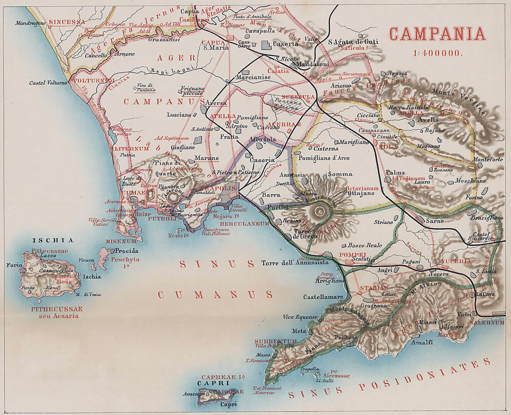 Pompeii World Map.Maps Bay Of Naples